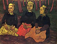 Three Breton Women in the Forest, 1895, lacombe