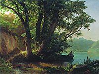 Landscape with lake, 1859, lagorio