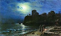 Moonlit night by the sea, 1886, lagorio