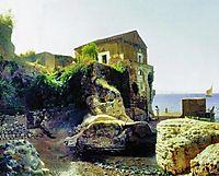 On the island of Capri. Fisher-s house., 1859, lagorio