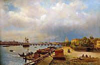 View of the Neva and Peter and Paul Fortress, 1859, lagorio
