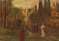 Dante-s Meeting with Beatrice, 1907, lajos