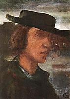 Self-portrait with Hat, 1912, lajos