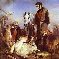 Death of the Wild Bull, 1836, landseer