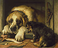 Doubtful Crumbs , 1858, landseer