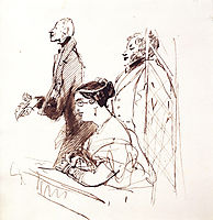 General Phipps, Mrs.Norton and 2nd Baron Alvanley at the theatre, landseer