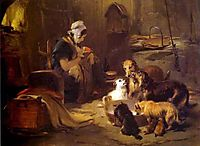 A Highland Breakfast, 1834, landseer