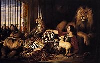 Isaac van Amburgh and his Animals, 1839, landseer