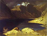 A Lake Scene Effect of a Storm, 1833, landseer