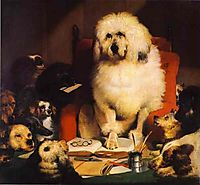 Laying Down the Law, 1840, landseer