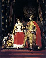 Queen Victoria and Prince Albert at the Bal Costume, landseer