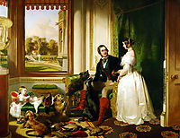 Queen Victoria and Prince Albert at home at Windsor Castle in Berkshire, England, 1843, landseer