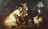 Scene From A Midsummer Night-s Dream, Titania and Bottom, 1848, landseer