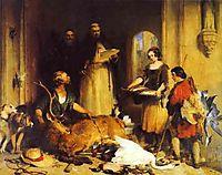Scene in the Olden Time at Bolton Abbey, 1834, landseer