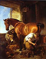 Shoeing, 1844, landseer
