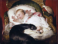 Victoria, Princess Royal, with Eos, 1841, landseer