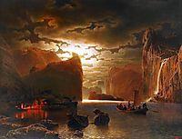Fishing Near The Fjord By Moonlight, 1862, larson