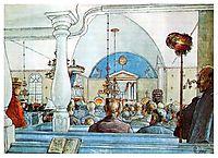 At Church, 1905, larsson