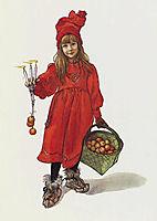 Brita as Iduna (Iðunn), lithography, title page for the christmas edition of Idun, 1901, 1901, larsson