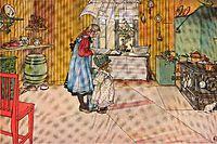 The Kitchen, c.1898, larsson