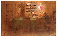 Los deberes, 1898, larsson