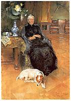 Portrait of Gothilda Furstenberg, 1891, larsson