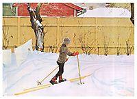 The Skier, c.1909, larsson