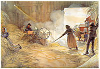 Threshing, 1906, larsson