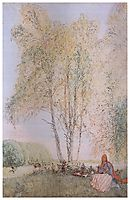 Under the Birches, 1902, larsson