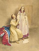 False Dmitry I and Princess Xenia Godunova, lebedev
