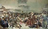 Martha the Mayoress. Destruction of Novgorod by Ivan III., 1889, lebedev