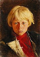 Portrait of boy, lebedev