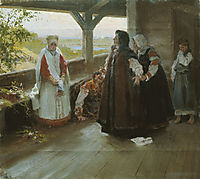 Spat on the terrace, lebedev
