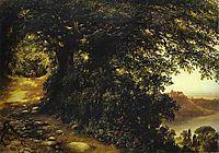 View of Castel Gandolfo near Rome, 1836, lebedevmikhail