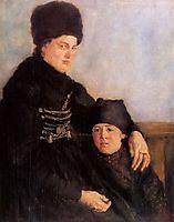 Dachauerin mit Kind, 1875, leibl