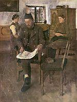 Der Zeitungsleser, 1891, leibl
