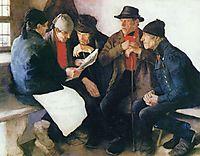 Die Dorfpolitiker, 1877, leibl