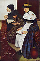 Die drei Frauen in der Kirche, 1881, leibl