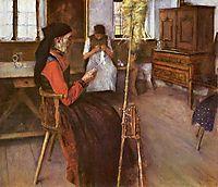 Die Spinnerin, 1892, leibl