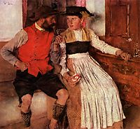 In der Bauernstube, 1890, leibl