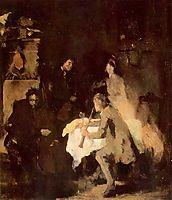 Konzertstudie, 1870, leibl