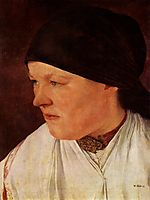 Kopf eines Bauernmädchens, 1879, leibl