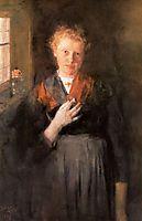 Mädchen am Fenster, 1899, leibl