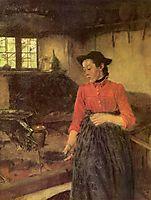 Mädchen am Herd, 1895, leibl
