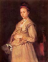 Porträt der Frau Gedon, 1869, leibl