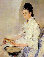 Porträt der Rosine Fischler, Gräfin Treuberg, 1878, leibl