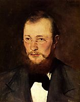 Porträt des Dr. med. Friedrich Rauert, 1877, leibl