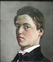 Selbstbildnis des Achtzehnjährigen, 1862, leibl