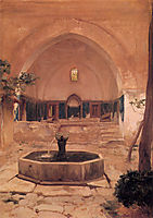 Courtyard of a Mosque at Broussa, 1867, leighton