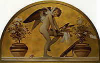 Cupid and Doves, leighton